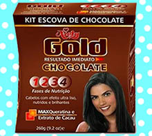 Escova de chocolate Niely Gold