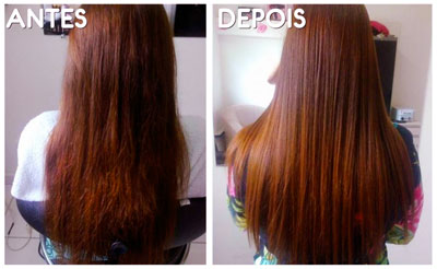 Resultado de imagem para cabelos com botox capilar antes e depois