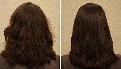 Fotos de resultados com escova progressiva alfaparf