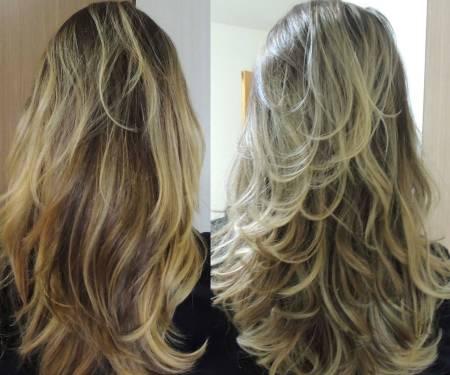 cabelo loiro após uso magic color matizador