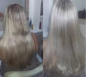 escova de diamante antes e depois